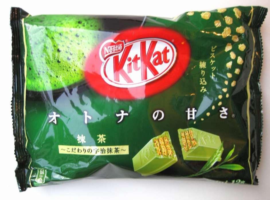 Kit Kat green tee. Кит Кат Зленый чай. (Япония) Большая пачка
