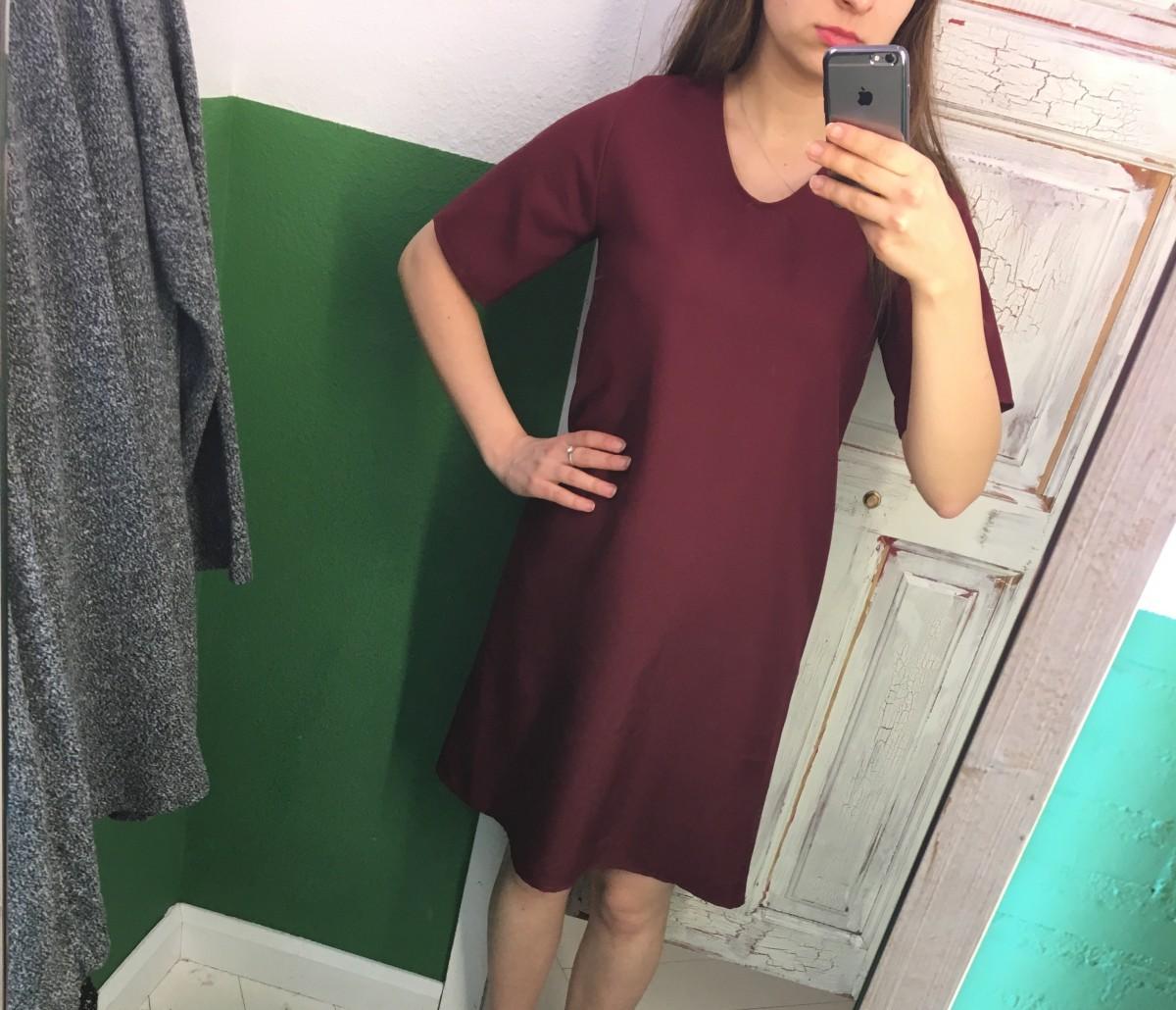 Новое бордовое платье. Всего 190 грн