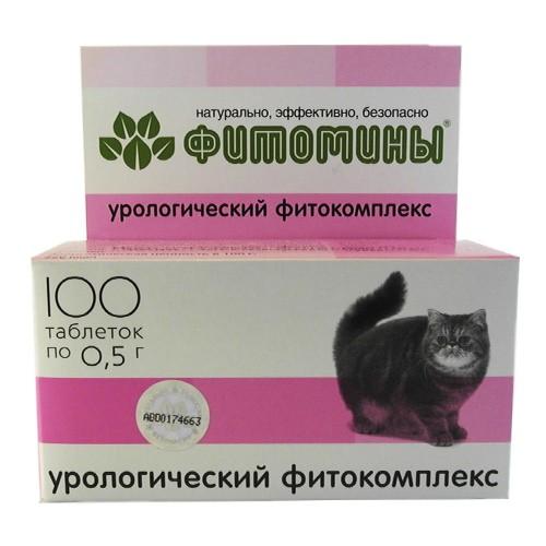 Фитомины Урологический фитокомплекс  для котов (100 табл.х 0,5 г)