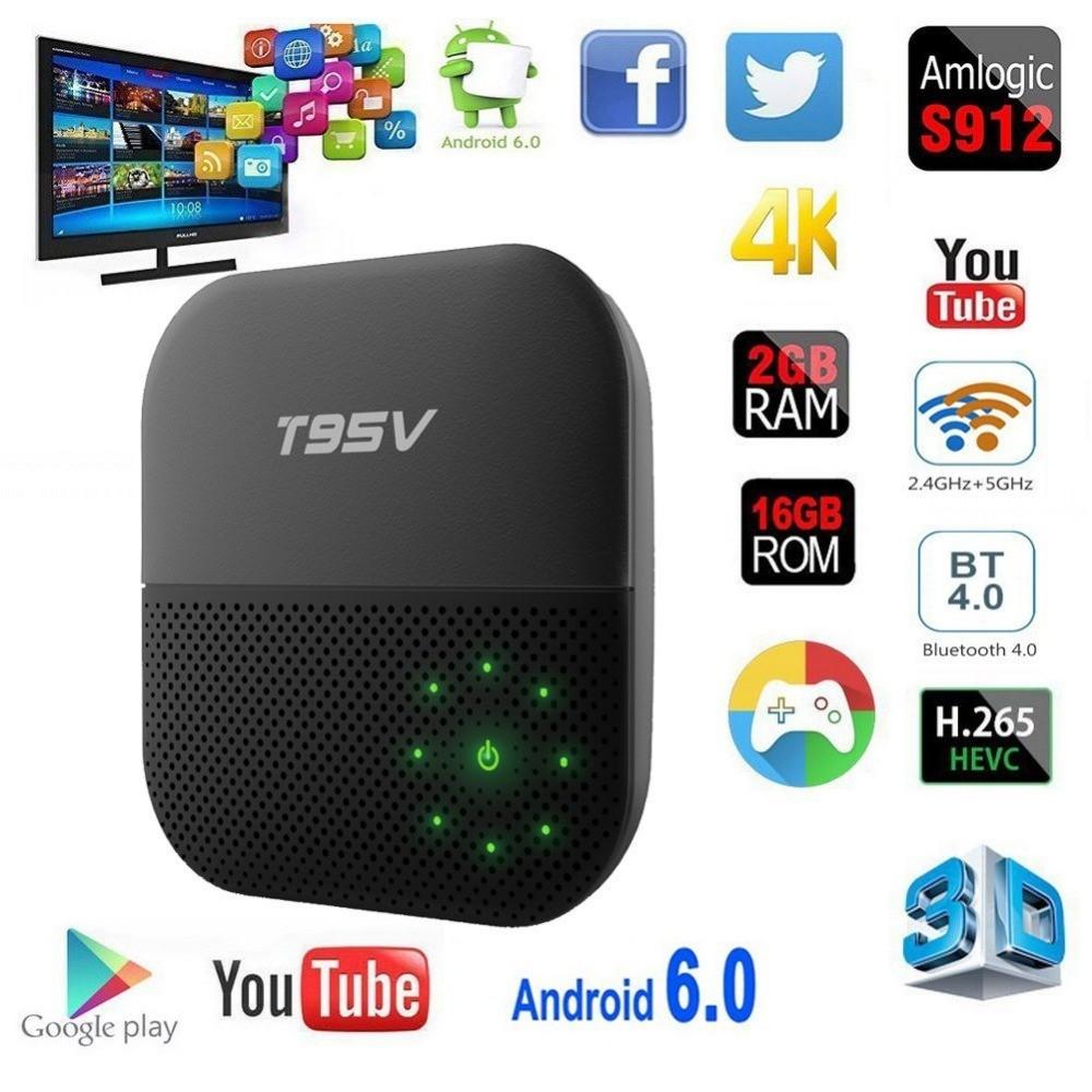 T95V Pro s912 2 G/16G Android 6.0 smart tv box смарт тв приставка t95z купить