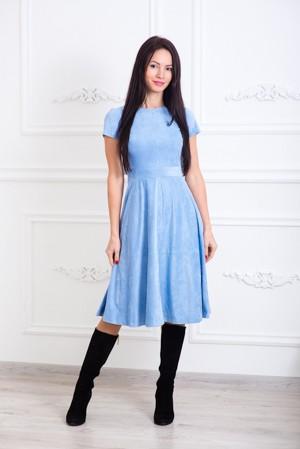 Платье замшевое Клеш