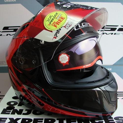 Шлем LS2 FF320 Stream Stinger Black/Red