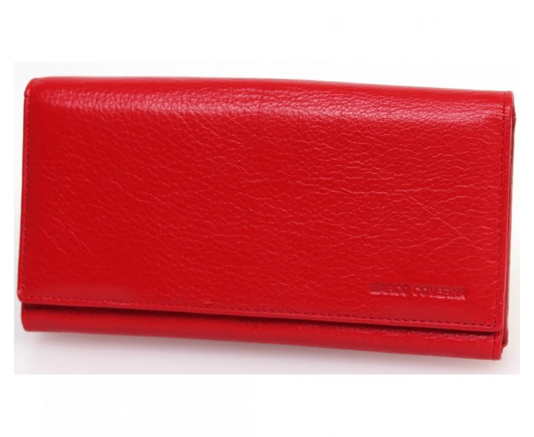 39cb85c0e405 Большой женский кошелек марко Коверна в красном цвете с отделением для кредитных  карт.