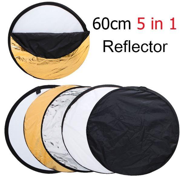 Фото рефлектор - отражатель рассеиватель (5 в 1 диаметром 60 см.)