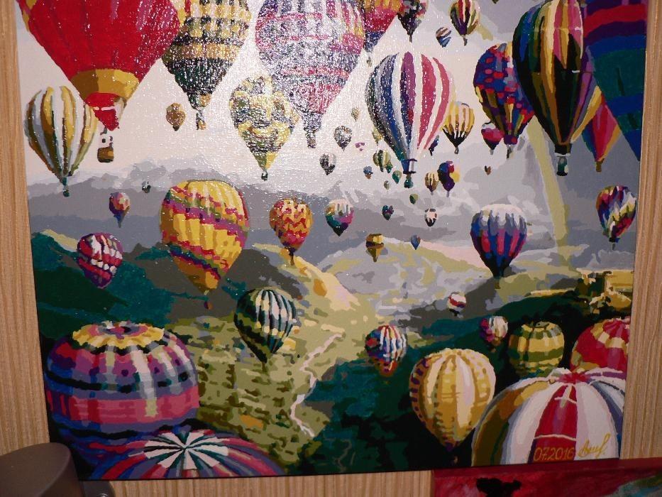 "Картина акрилом на холсте""Воздушные шары""500х400"