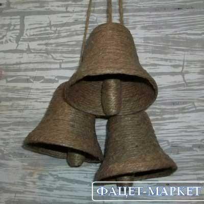 Изделия из джута плетёные ручной работы