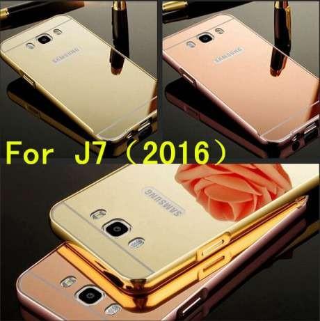Зеркальный чехол накладка бампер на Samsung J5 J7 (2016) J510 / J710