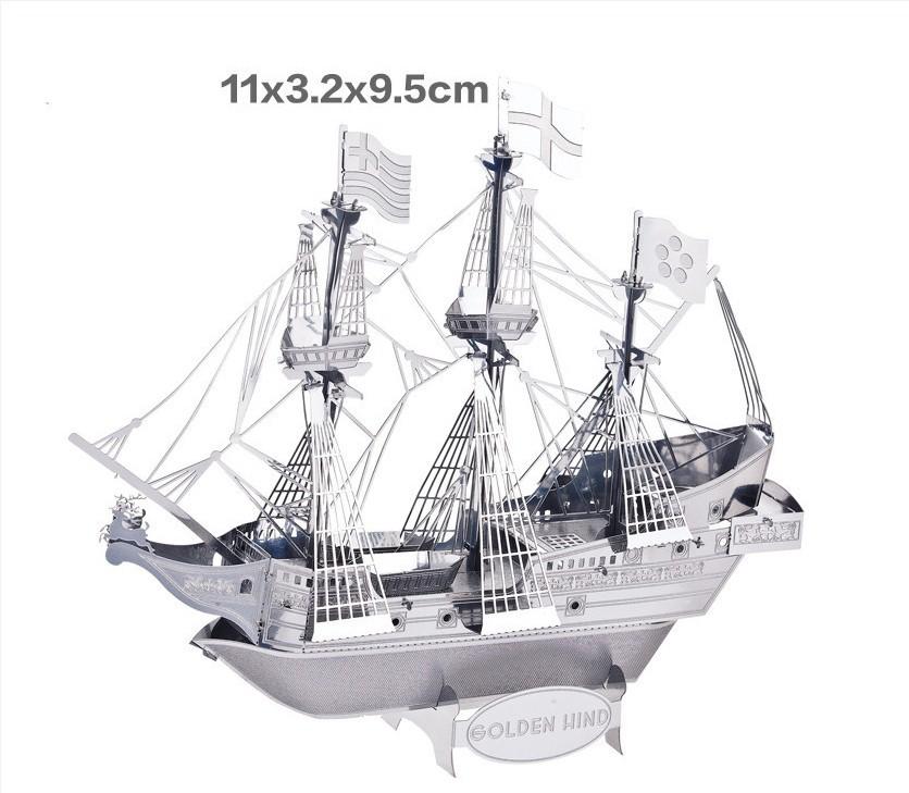 Металлическая 3D модель Корабля