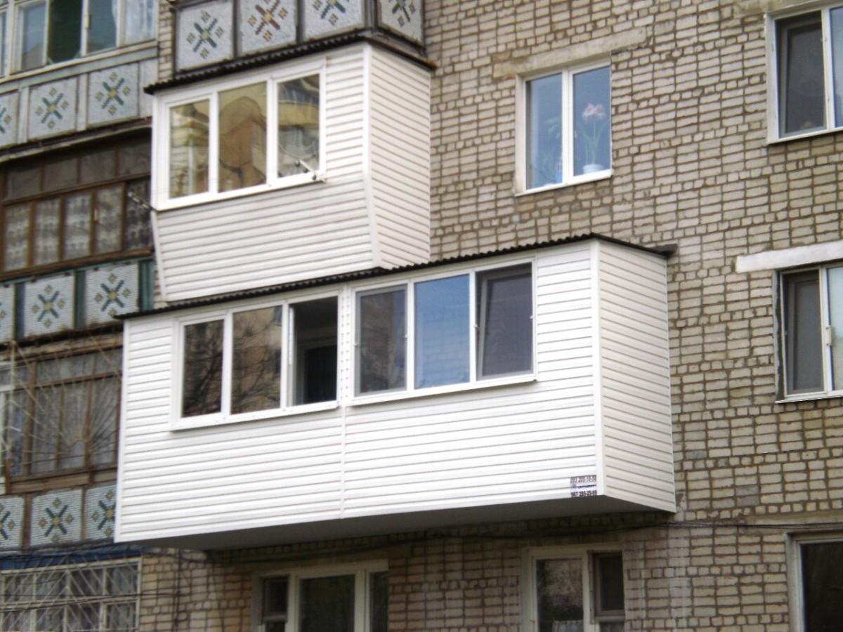 Ремонт балконов с расширением фото.