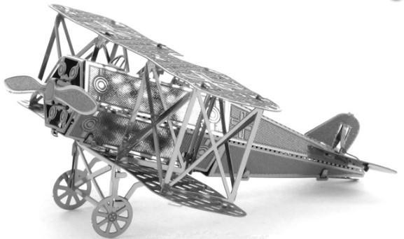 """Металлическая сборная 3D модель """"Истребитель Fokker D.VII"""""""