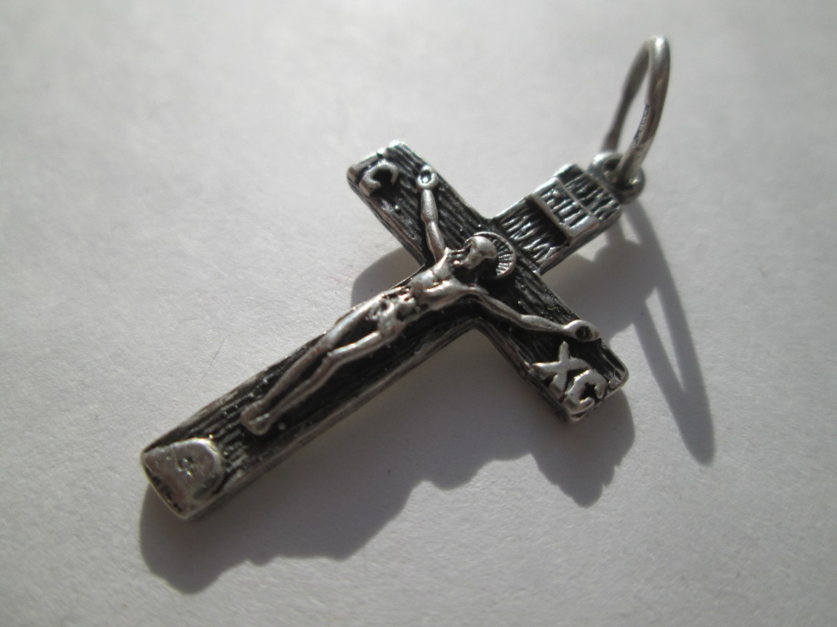 Крестик серебряный 925 пробы.