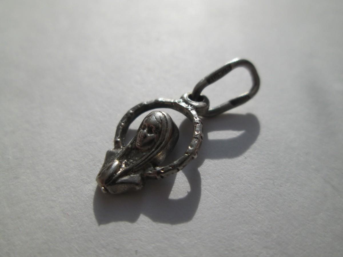 Кулон серебряный 925 пробы.