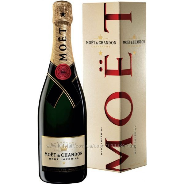 Шампанское Moet Chandon Brut (Моет Шандон Брут в коробке) 0.75L