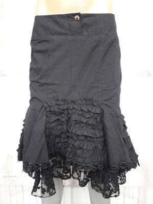 Юбка чёрная, шитьё, кружево, подкладка