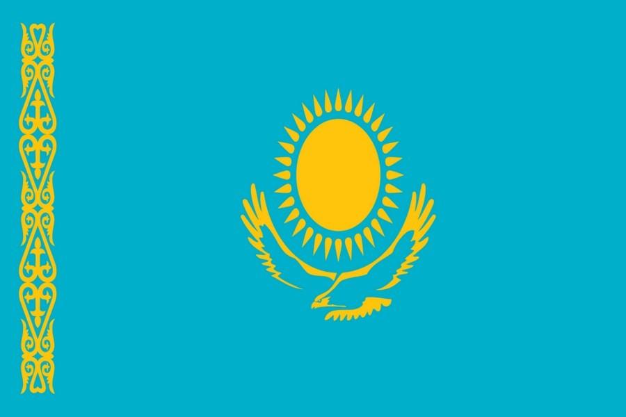 Флаг Казахстана / казахский 150х90 см, интернет-магазин флагов стран мира