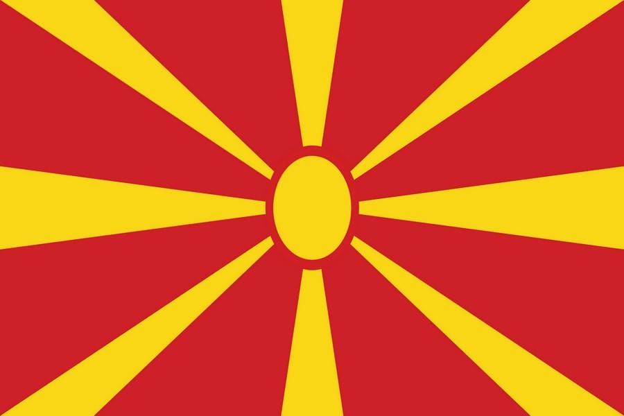 Флаг Македонии / македонский 150*90 см, интернет-магазин флагов стран, организаций и штатов