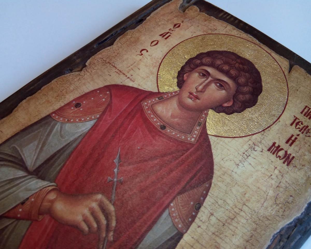 Купить Икону Святого Пантелеймона   Сделаем на Заказ