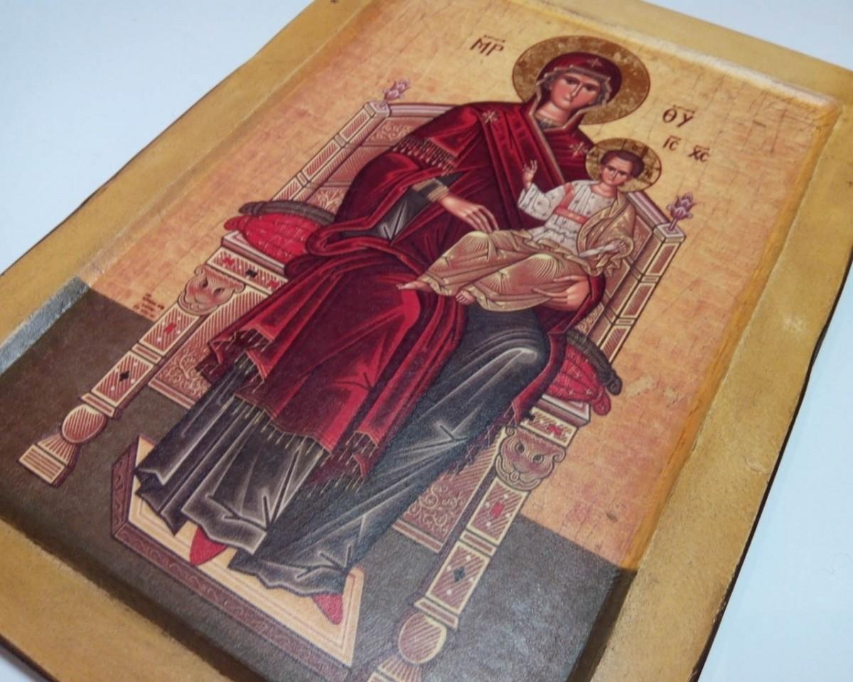Купить Икону Пресвятая Богородица на Престоле