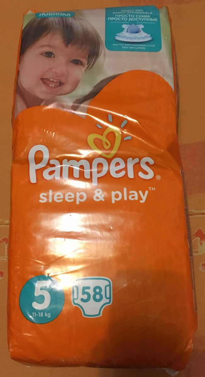 Pampers Sleep&Play 5. 58 штук