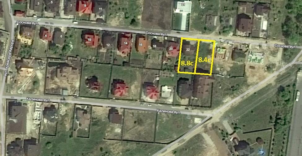 Продам участок с домом 270м2.+17 соток под инд строительство в котеджном городке массив Жуляны! Улица. Сосновая!
