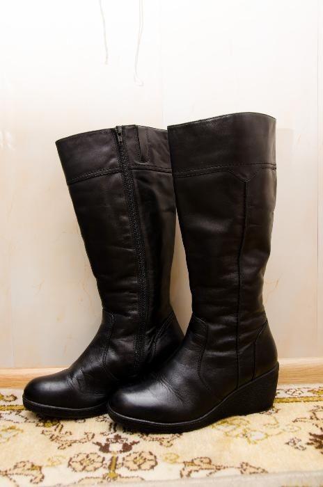 Сапоги кожаные зимние 37 (23 см), натуральная кожа, Vagabond