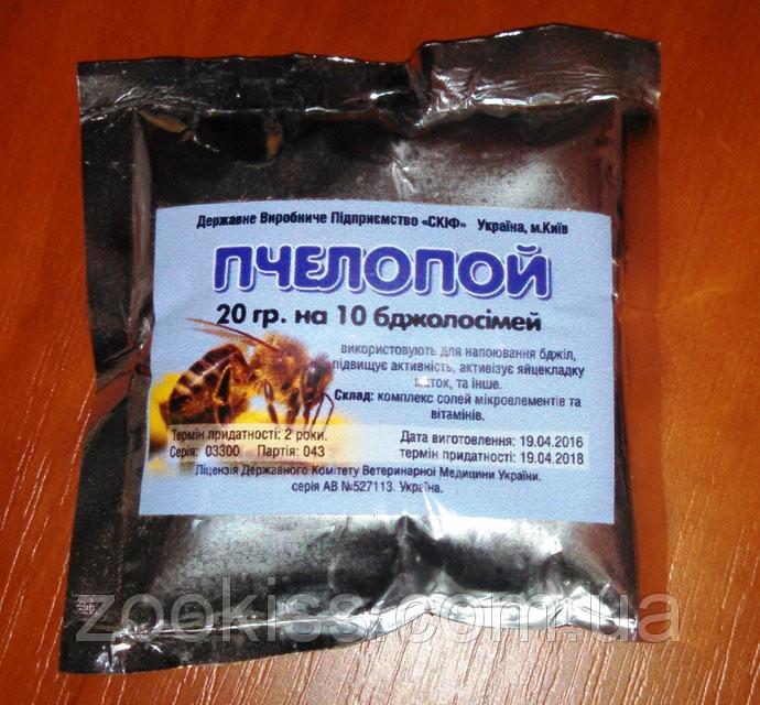 Пчелопой (аналог аквакорма)20гр. на 10 доз.