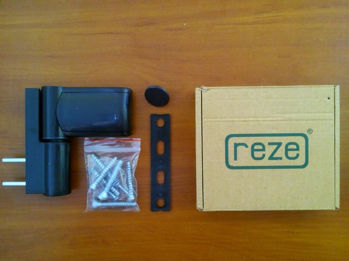 Петля дверная Reze 110 3D Alfa (до 120 кг.), коричневая.
