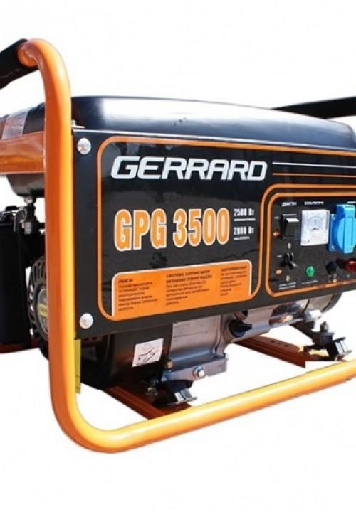 Однофазный генератор Gerrard GPG3500E