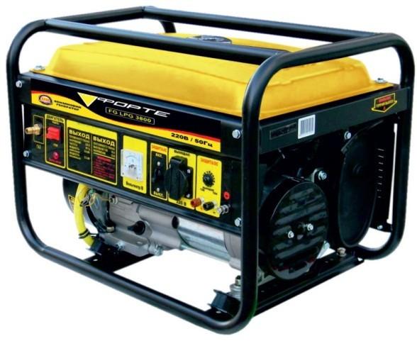Однофазный бензо-газовый генератор Forte FG LPG 3800