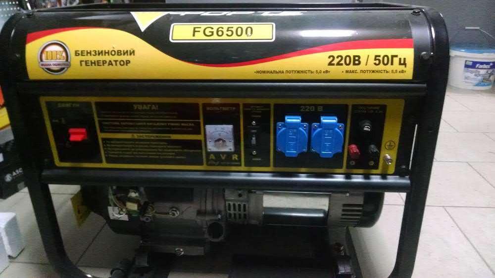 Однофазный бензогенератор Forte FG6500