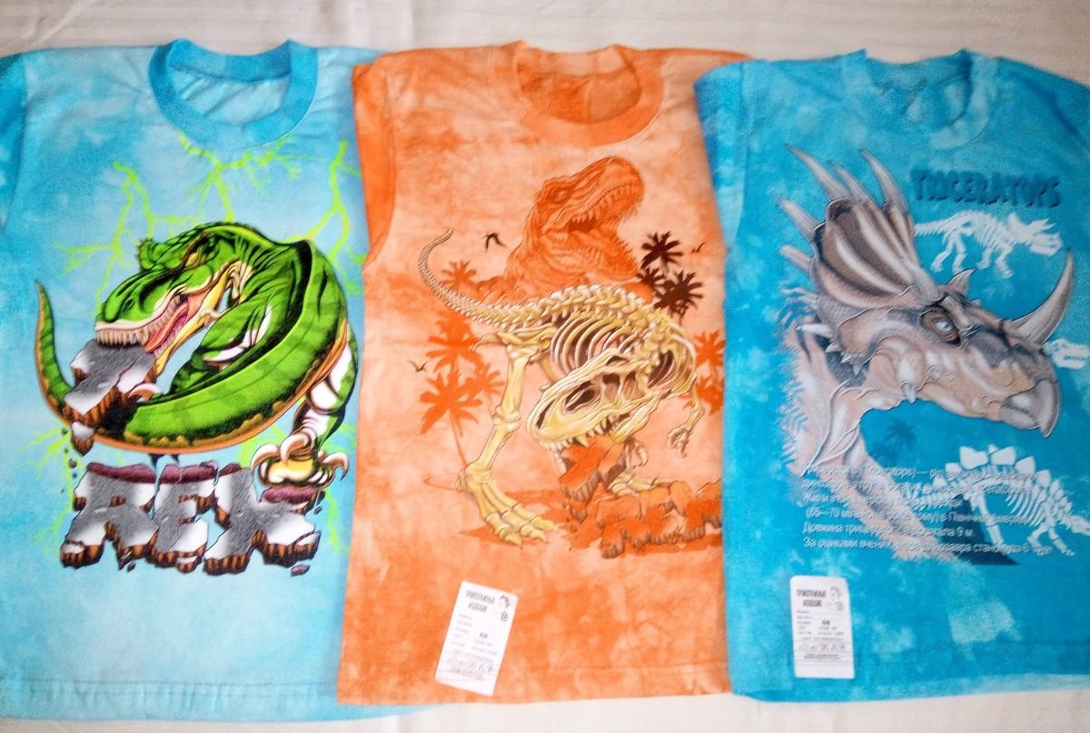 футболки з динозаврами для хлопчиків