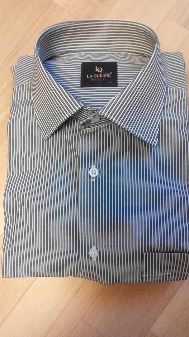 Рубашка мужская La Guerre Regular Fit / Pазмер L в полоску