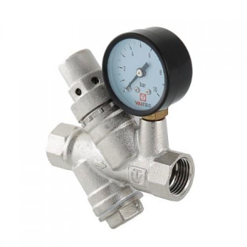 Редуктор давления Valtec c фильтром и манометром 1/2