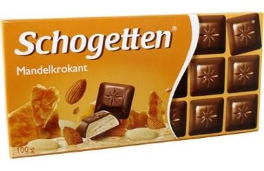 Вкуснейший молочный немецкий шоколад Schogetten/Шогеттен Almond Brittle (100 гр.)