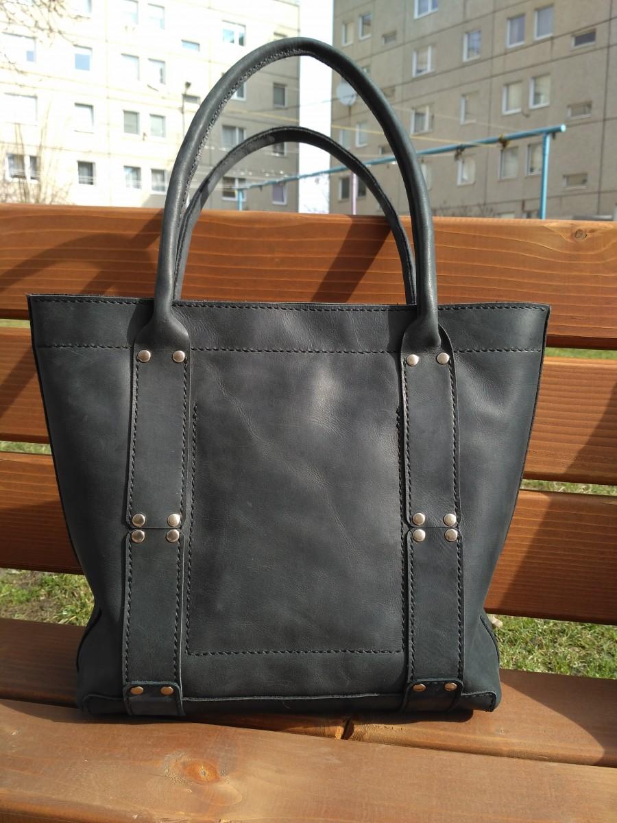 9ea111b9f7c7 Сумка шоппер из кожи - crazy horse - ручная работа: 1 220 грн - Мода ...