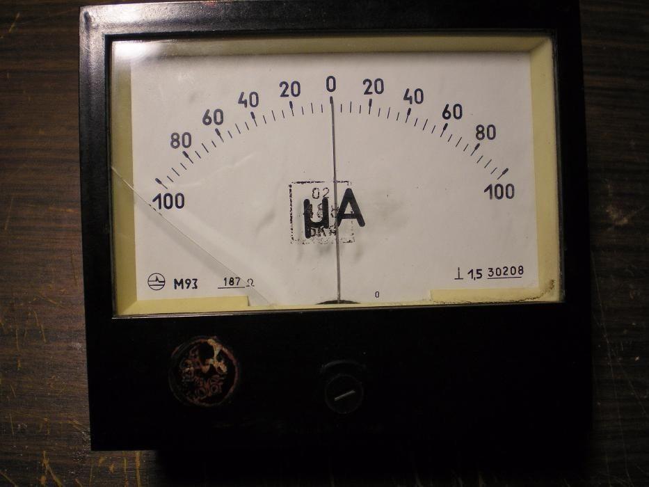 Миллиамперметр 100 мА двуполярный