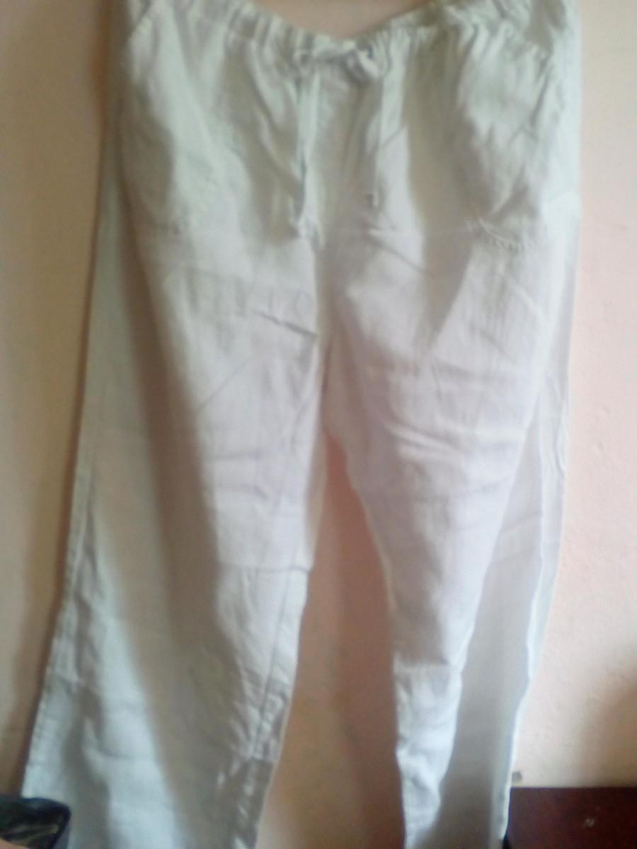 летние льняные штаны на завязках Большой размер