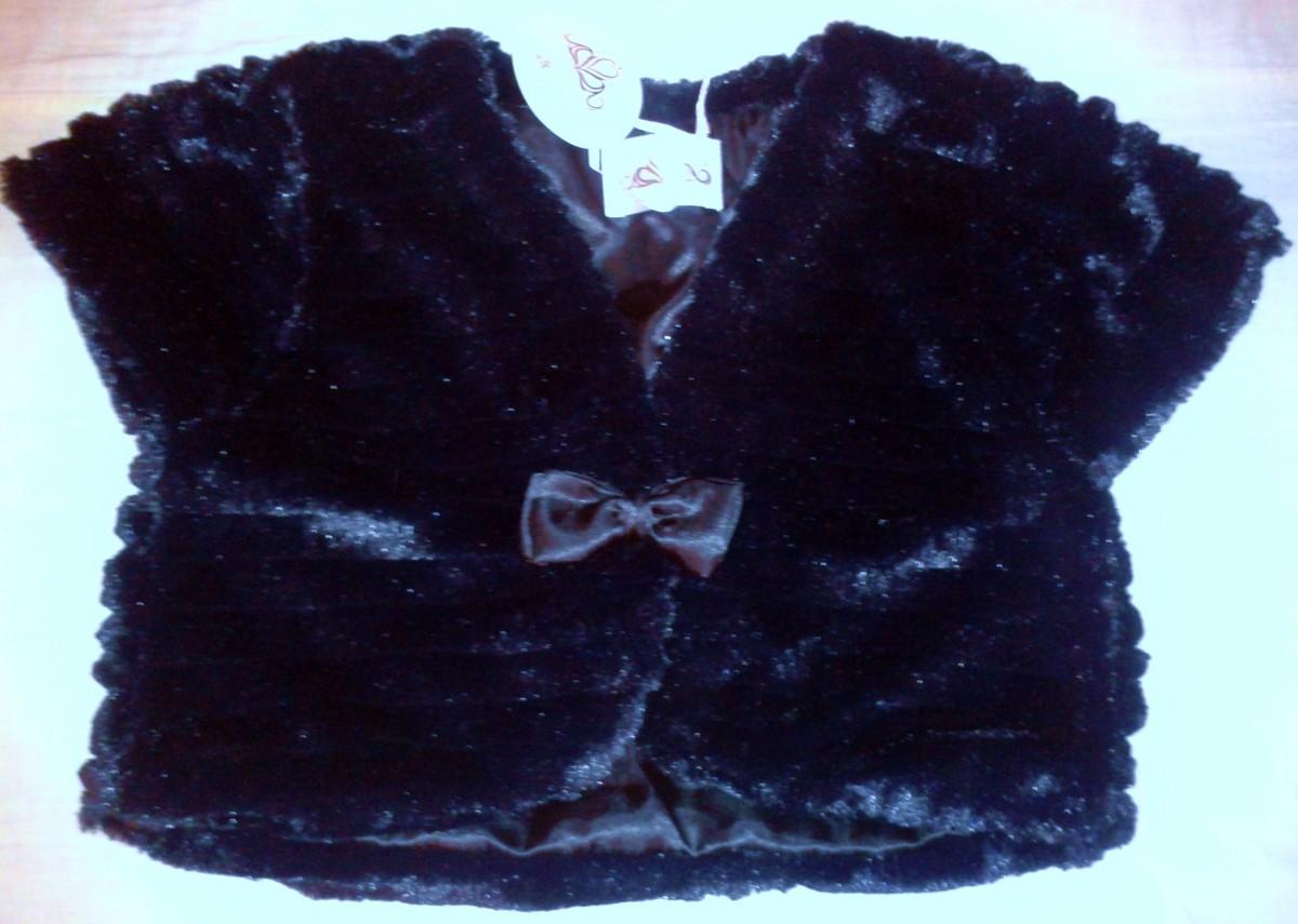 Черная накидка болеро для девочки 11-12 лет