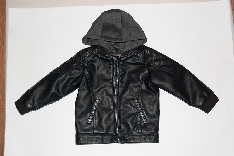 Кожаная куртка для маленького мальчика