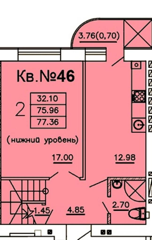 Внимание! Двухуровневая квартира в доме из красного кирпича