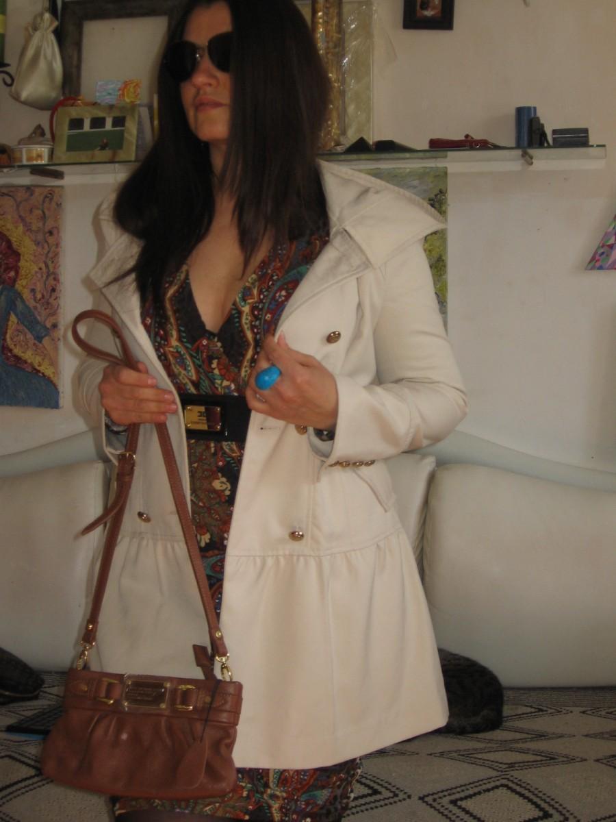 karen millen новый женственный соломенный плащик