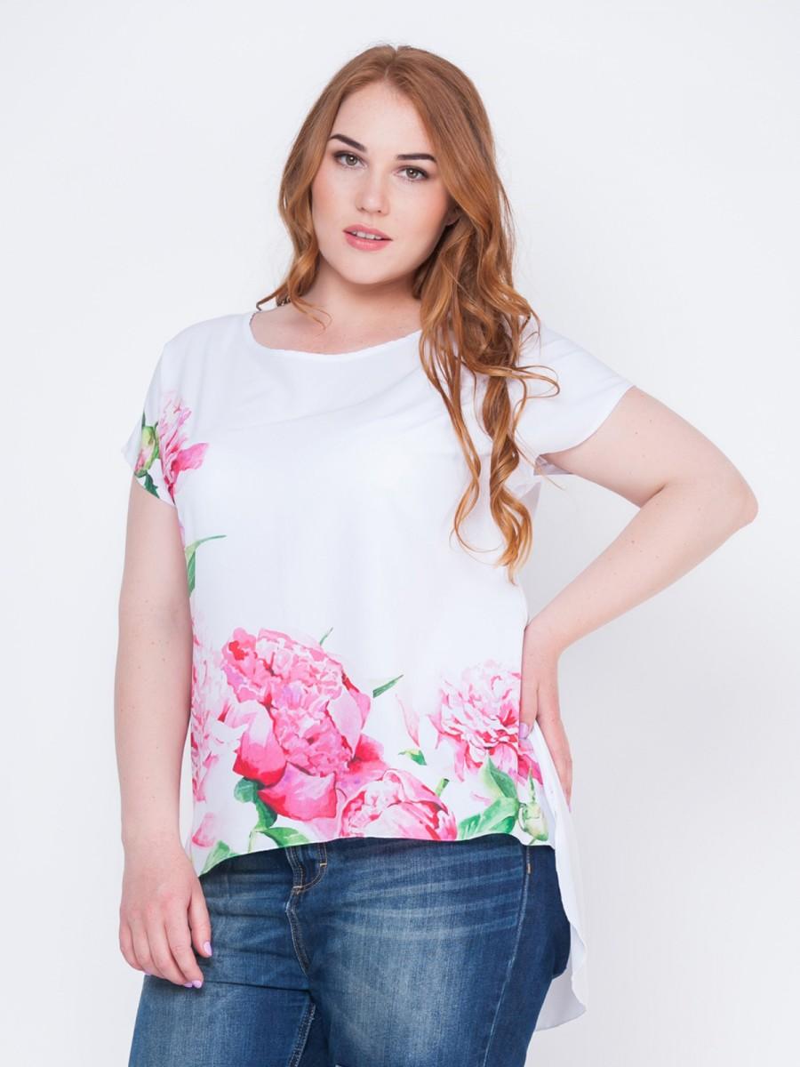 Женская стильная блуза больших размеров р.56