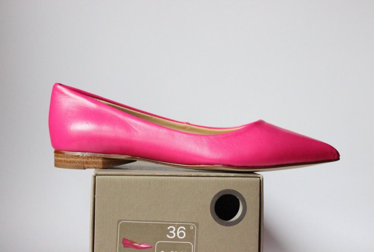Кожаные балетки туфли Вата Оригинал