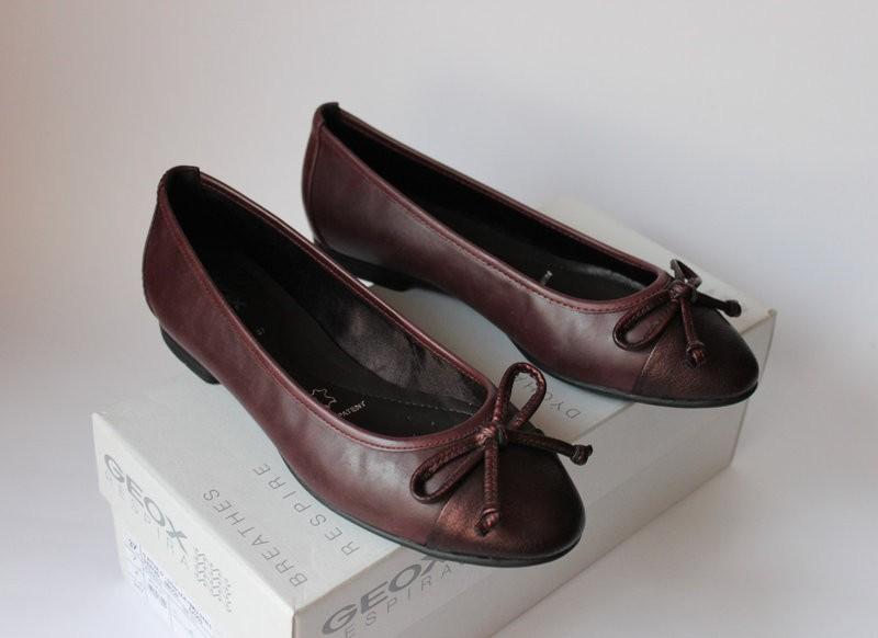 Туфельки-балетки итальянского бренда geox