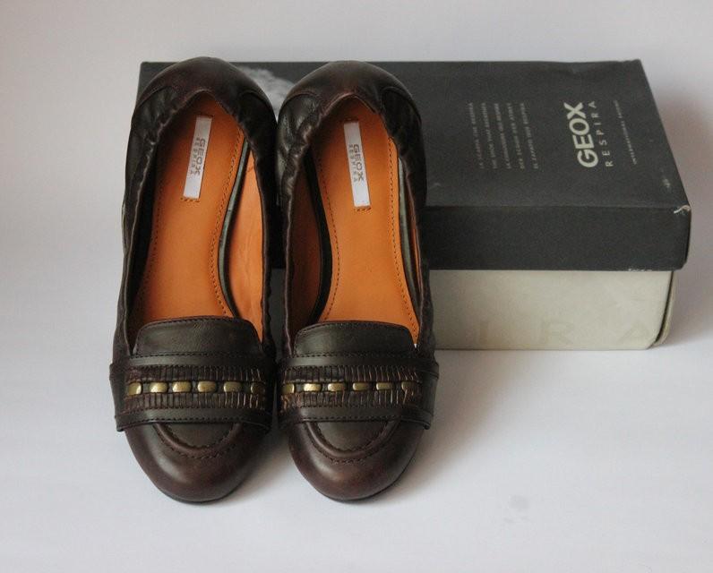 Кожаные туфли geox, оригинал