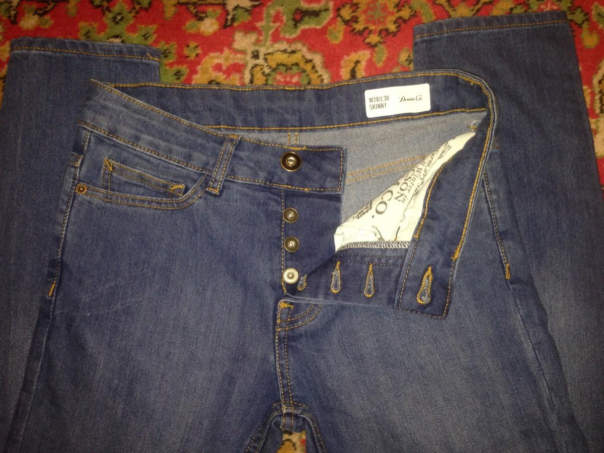 Молодежные крутые джинсы
