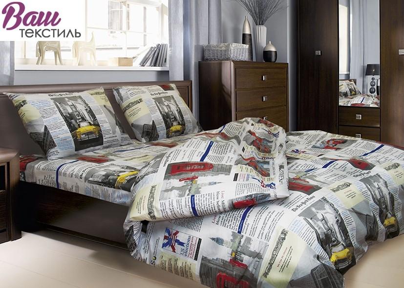 Хлопковый Двуспальный (евро) комплект постельного белья Zastelli