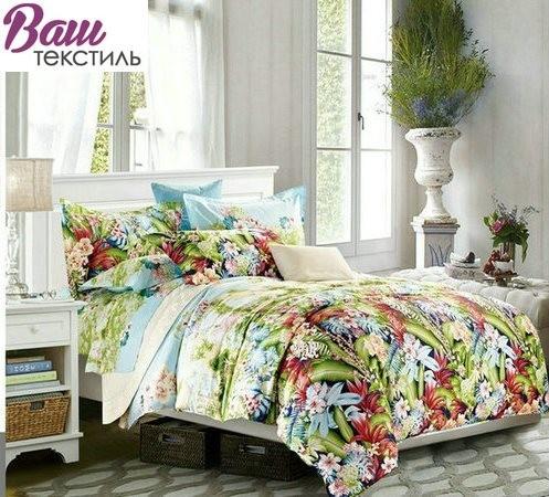 Двуспальный (евро) комплект постельного белья Zastelli сатин