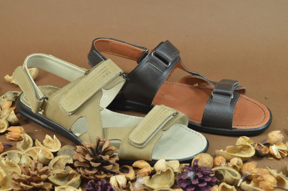 Мужские кожаные сандалии Шлепнанцы