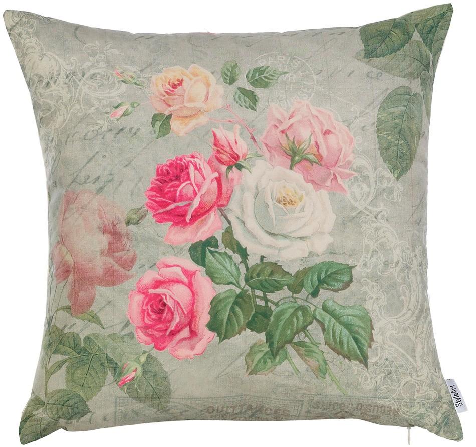 Декоративные подушка Нежные розы